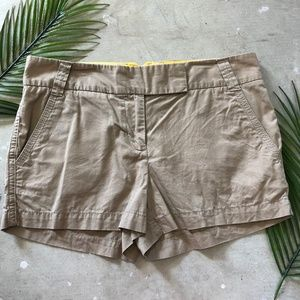 J. Crew | Chino Tan Shorts Size 4